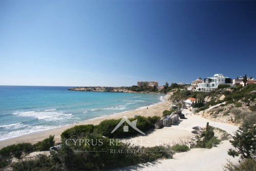 Coral Bay beach in winter, Cyprus