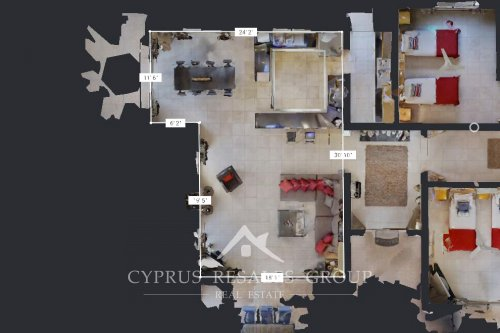 Measure rooms in your new home in Cyprus.