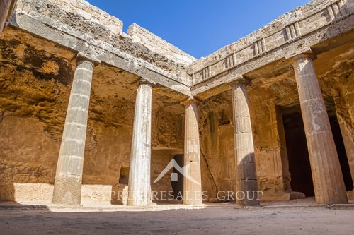 The Tombs of the Kings is a UNESCO World Heritage Site in Paphos.