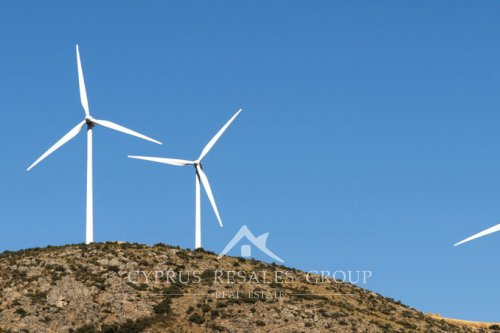 Wind Farms were introduced in Cyprus in 2010.