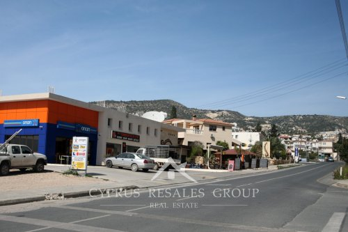 Cafes and restaurants on Michalaki Kiprianou steet in Peyia, Cyprus